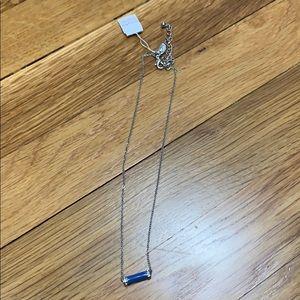 simple blue bar necklace